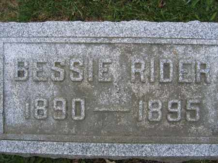 RIDER, BESSIE - Union County, Ohio | BESSIE RIDER - Ohio Gravestone Photos