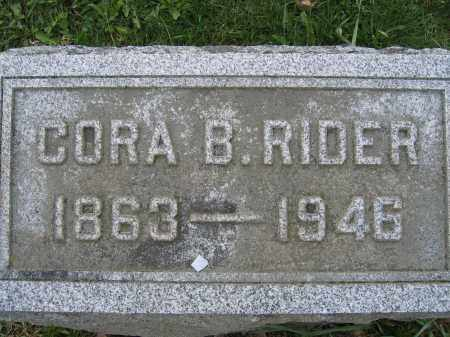 RIDER, CORA B. - Union County, Ohio | CORA B. RIDER - Ohio Gravestone Photos