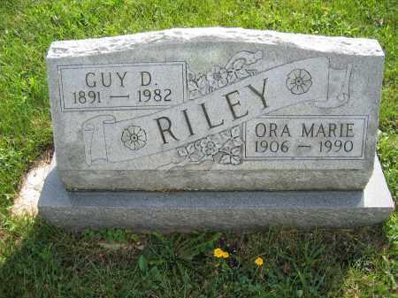 RILEY, GUY D. - Union County, Ohio | GUY D. RILEY - Ohio Gravestone Photos