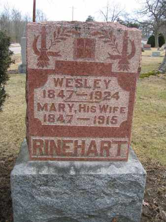 RINEHART, MARY - Union County, Ohio | MARY RINEHART - Ohio Gravestone Photos