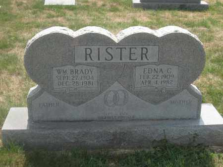 RISTER, WILLIAM BRADY - Union County, Ohio | WILLIAM BRADY RISTER - Ohio Gravestone Photos