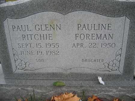 RITCHIE, PAUL GLENN - Union County, Ohio | PAUL GLENN RITCHIE - Ohio Gravestone Photos