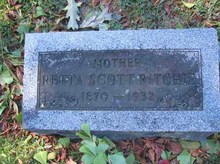 RITCHIE, RETTA SCOTT - Union County, Ohio | RETTA SCOTT RITCHIE - Ohio Gravestone Photos