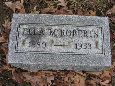 ROBERTS, ELLA M. - Union County, Ohio | ELLA M. ROBERTS - Ohio Gravestone Photos