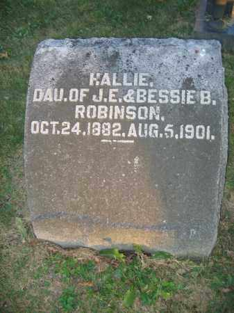 ROBINSON, HALLIE - Union County, Ohio | HALLIE ROBINSON - Ohio Gravestone Photos