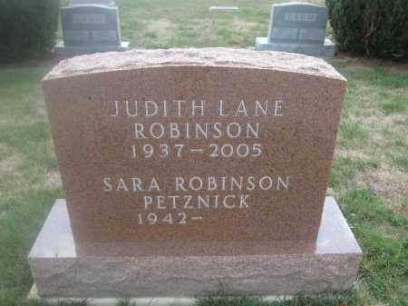 ROBINSON, JUDITH LANE - Union County, Ohio | JUDITH LANE ROBINSON - Ohio Gravestone Photos