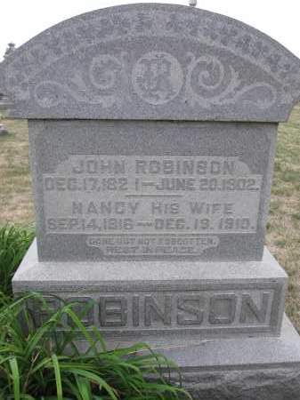 ROBINSON, NANCY - Union County, Ohio | NANCY ROBINSON - Ohio Gravestone Photos