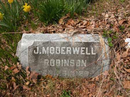 ROBINSON, J. MODERWELL - Union County, Ohio | J. MODERWELL ROBINSON - Ohio Gravestone Photos