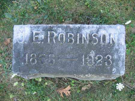 ROBINSON, J.E. - Union County, Ohio | J.E. ROBINSON - Ohio Gravestone Photos