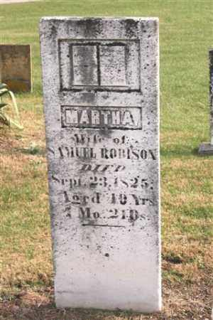 ROBINSON, MARTHA - Union County, Ohio | MARTHA ROBINSON - Ohio Gravestone Photos