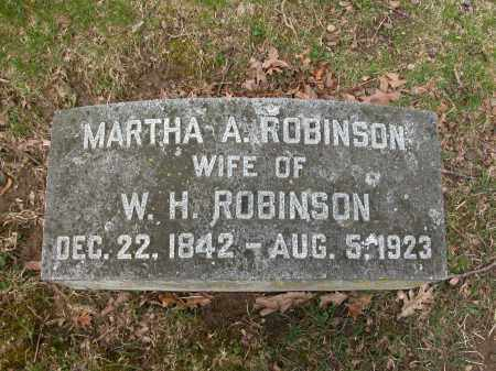 ROBINSON, MARTHA A. - Union County, Ohio | MARTHA A. ROBINSON - Ohio Gravestone Photos