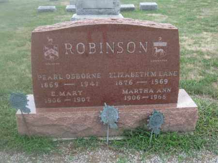 ROBINSON, E. MARY - Union County, Ohio | E. MARY ROBINSON - Ohio Gravestone Photos