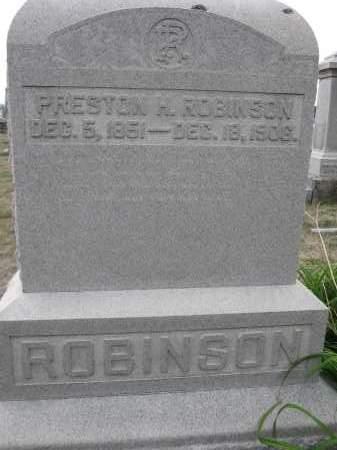 ROBINSON, PRESTON H. - Union County, Ohio | PRESTON H. ROBINSON - Ohio Gravestone Photos