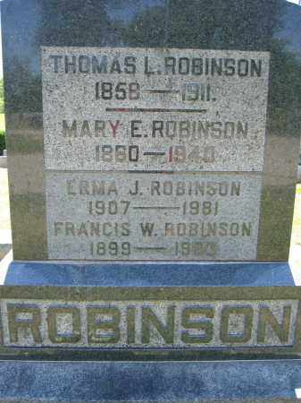 ROBINSON, ERMA J. - Union County, Ohio | ERMA J. ROBINSON - Ohio Gravestone Photos