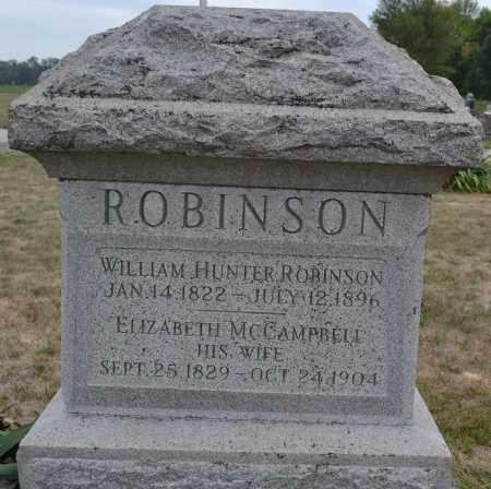 ROBINSON, ELIZABETH MCCAMPBELL - Union County, Ohio | ELIZABETH MCCAMPBELL ROBINSON - Ohio Gravestone Photos