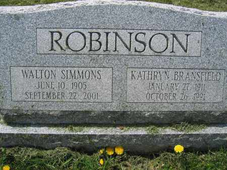 ROBINSON, WALTON SIMMONS - Union County, Ohio | WALTON SIMMONS ROBINSON - Ohio Gravestone Photos