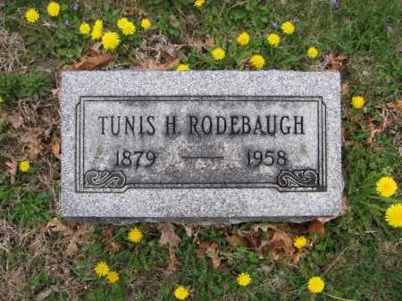 RODEBAUGH, TUNIS H. - Union County, Ohio | TUNIS H. RODEBAUGH - Ohio Gravestone Photos