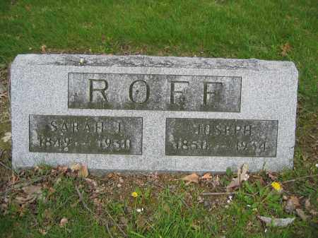 ROFF, SARAH J. - Union County, Ohio | SARAH J. ROFF - Ohio Gravestone Photos
