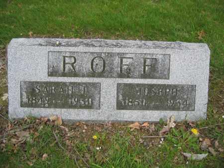 ROFF, JOSEPH - Union County, Ohio | JOSEPH ROFF - Ohio Gravestone Photos