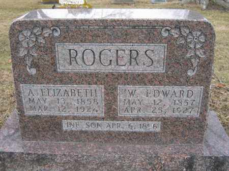 ROGERS, W. EDWARD - Union County, Ohio | W. EDWARD ROGERS - Ohio Gravestone Photos