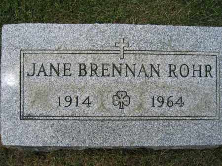 ROHR, JANE BRENNAN - Union County, Ohio | JANE BRENNAN ROHR - Ohio Gravestone Photos