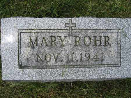 ROHR, MARY - Union County, Ohio | MARY ROHR - Ohio Gravestone Photos