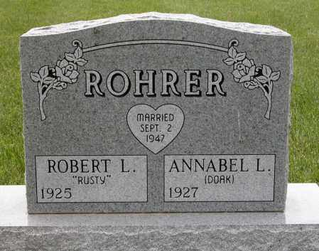 ROHRER, ANNABEL L. - Union County, Ohio | ANNABEL L. ROHRER - Ohio Gravestone Photos