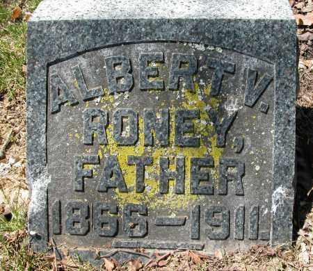 RONEY, ALBERT V. - Union County, Ohio | ALBERT V. RONEY - Ohio Gravestone Photos
