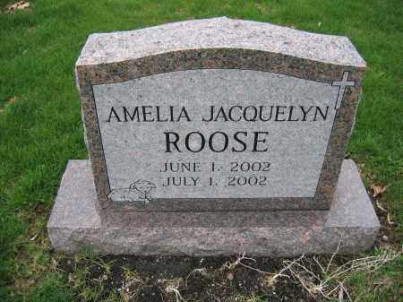 ROOSE, AMELIA JACQUELYN - Union County, Ohio | AMELIA JACQUELYN ROOSE - Ohio Gravestone Photos