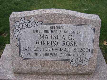 ROSE, MARSHA G. - Union County, Ohio | MARSHA G. ROSE - Ohio Gravestone Photos