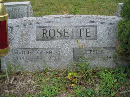 ROSETTE, CHESTER E. - Union County, Ohio | CHESTER E. ROSETTE - Ohio Gravestone Photos