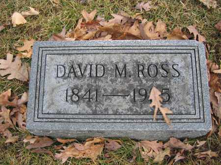 ROSS, DAVID M. - Union County, Ohio | DAVID M. ROSS - Ohio Gravestone Photos