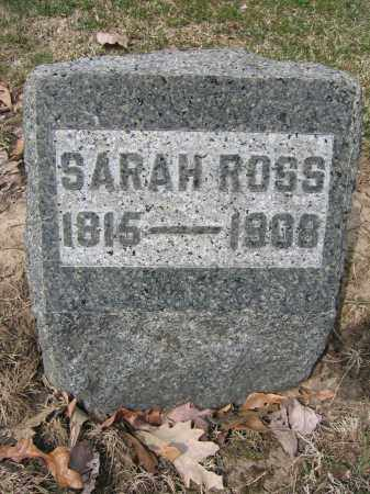 ROSS, SARAH - Union County, Ohio | SARAH ROSS - Ohio Gravestone Photos