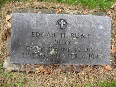 RUBLE, EDGAR H. - Union County, Ohio | EDGAR H. RUBLE - Ohio Gravestone Photos