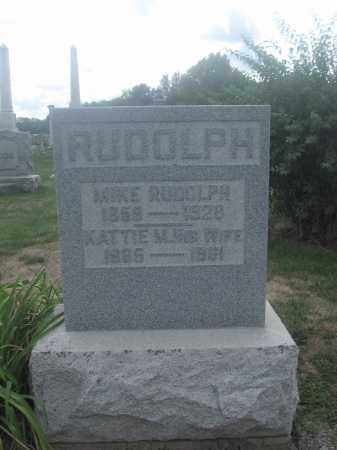 RUDOLPH, KATTIE M. - Union County, Ohio | KATTIE M. RUDOLPH - Ohio Gravestone Photos