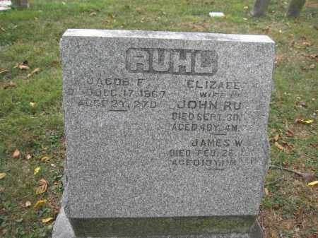 RUHL, JACOB F. - Union County, Ohio | JACOB F. RUHL - Ohio Gravestone Photos