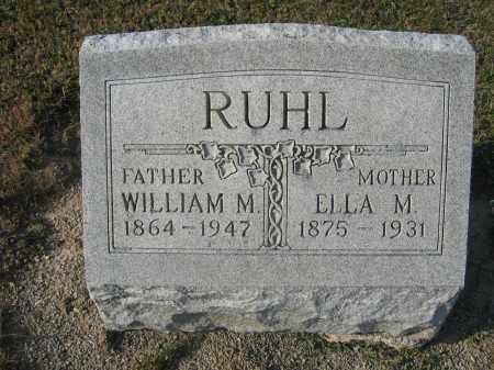 RUHL, WILLIAM M. - Union County, Ohio | WILLIAM M. RUHL - Ohio Gravestone Photos