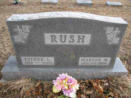 RUSH, ESTHER L. - Union County, Ohio | ESTHER L. RUSH - Ohio Gravestone Photos