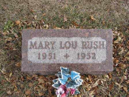 RUSH, MARY LOU - Union County, Ohio | MARY LOU RUSH - Ohio Gravestone Photos