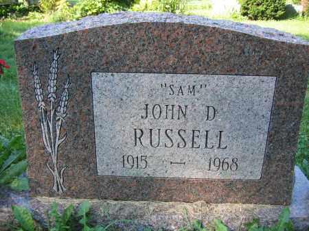 RUSSELL, JOHN D. - Union County, Ohio | JOHN D. RUSSELL - Ohio Gravestone Photos