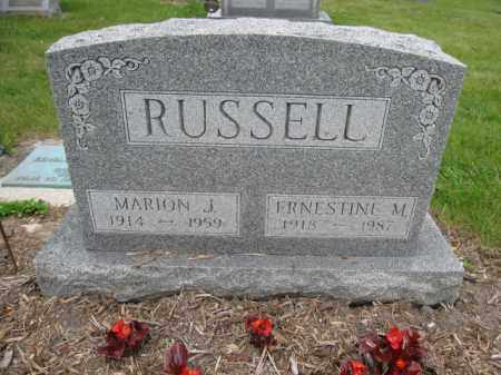 RUSSELL, ERNESTINE M. - Union County, Ohio | ERNESTINE M. RUSSELL - Ohio Gravestone Photos