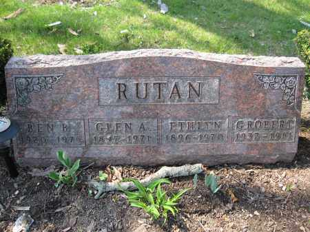 RUTAN, GLEN A. - Union County, Ohio | GLEN A. RUTAN - Ohio Gravestone Photos