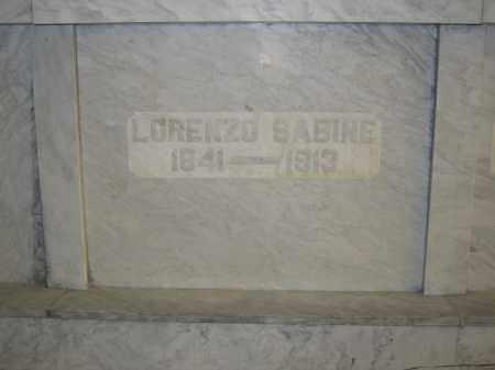 SABINE, LORENZO - Union County, Ohio   LORENZO SABINE - Ohio Gravestone Photos