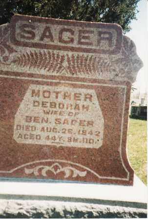 SAGER, DEBORAH - Union County, Ohio | DEBORAH SAGER - Ohio Gravestone Photos