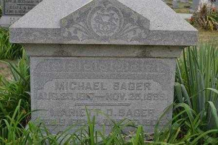 SAGER, MICHAEL - Union County, Ohio | MICHAEL SAGER - Ohio Gravestone Photos