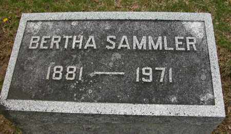 SAMMLER, BERTHA - Union County, Ohio | BERTHA SAMMLER - Ohio Gravestone Photos