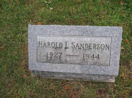 SANDERSON, HAROLD L. - Union County, Ohio | HAROLD L. SANDERSON - Ohio Gravestone Photos