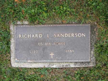 SANDERSON, RICHARD L. - Union County, Ohio | RICHARD L. SANDERSON - Ohio Gravestone Photos