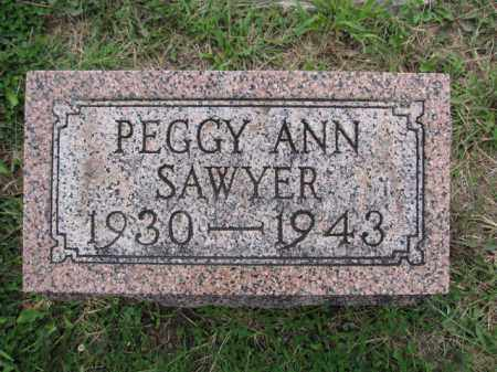 SAWYER, PEGGY ANN - Union County, Ohio | PEGGY ANN SAWYER - Ohio Gravestone Photos