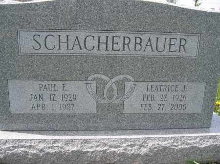 SCHACHERBAUER, PAUL E. - Union County, Ohio | PAUL E. SCHACHERBAUER - Ohio Gravestone Photos